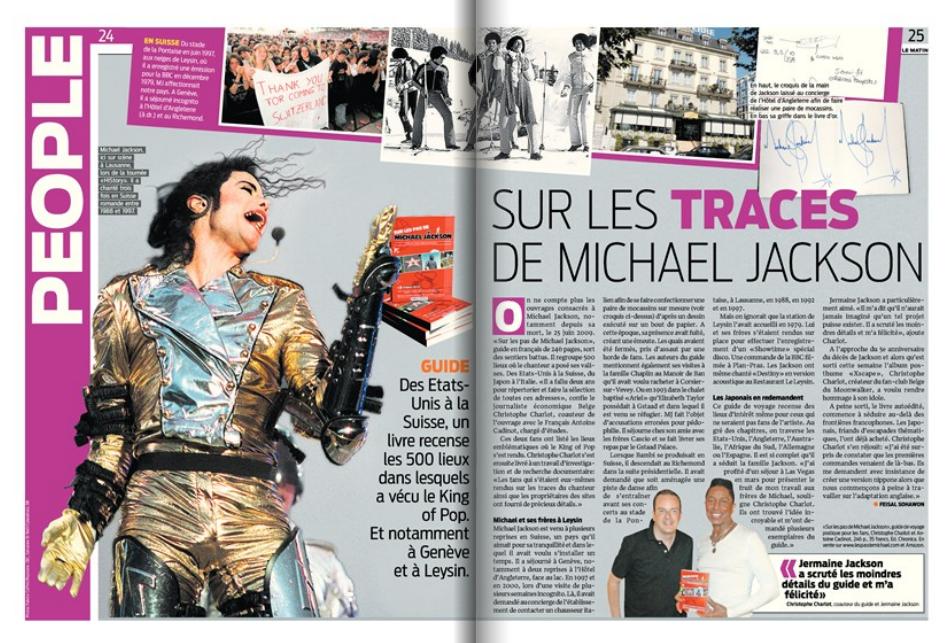 """Quotidien suisse """"Le Matin"""", le 16 mail 2014."""