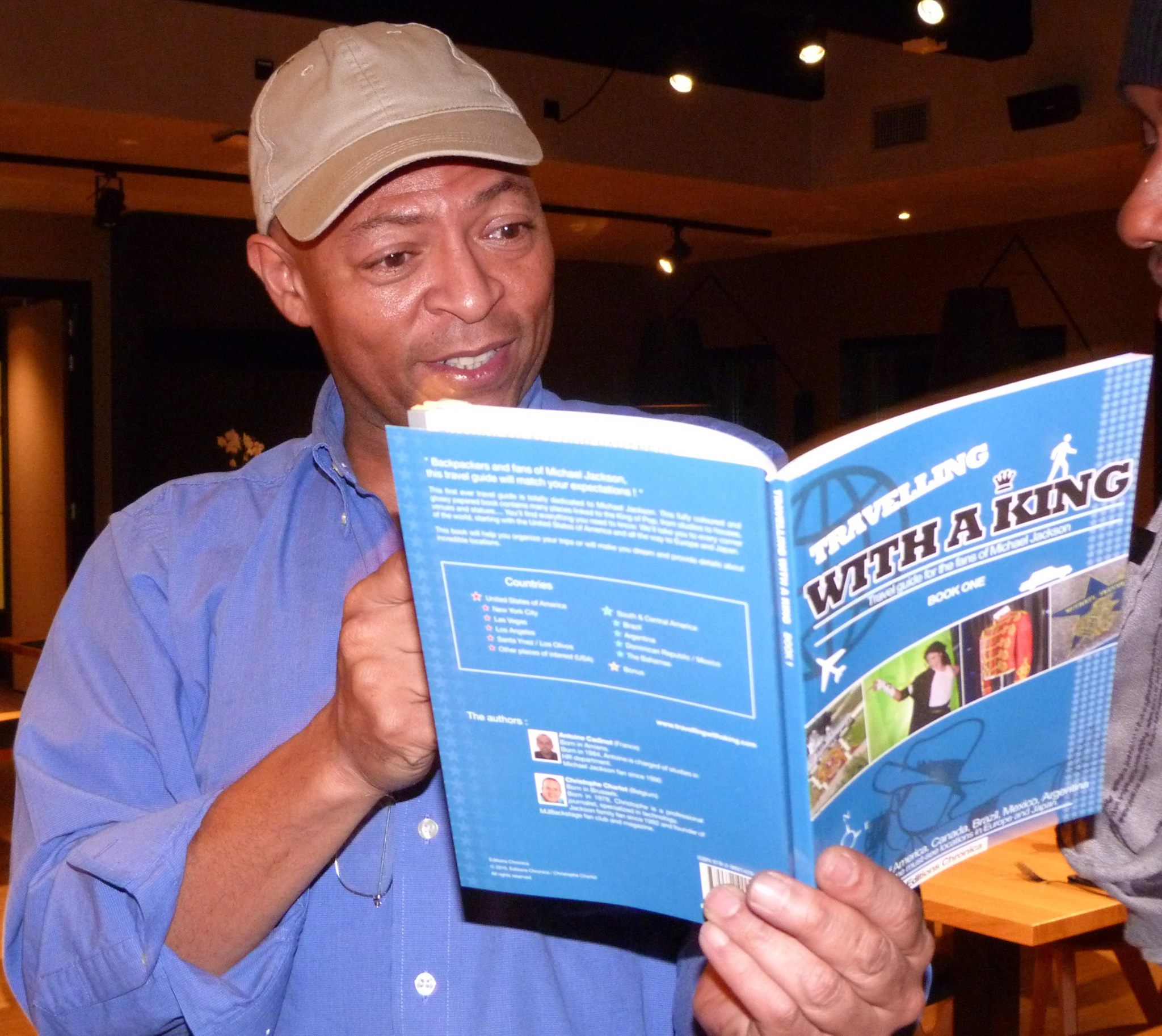 Lavelle Smith Jr enjoying the first ever MJ travel guide.